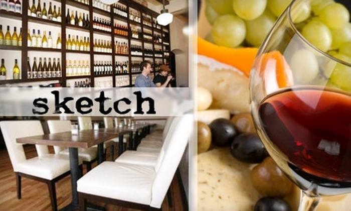 Sketch Wine Bar - Baker: $5 for $10 Worth of Breakfast, Coffee, Espresso, and Wine at Sketch Wine Bar