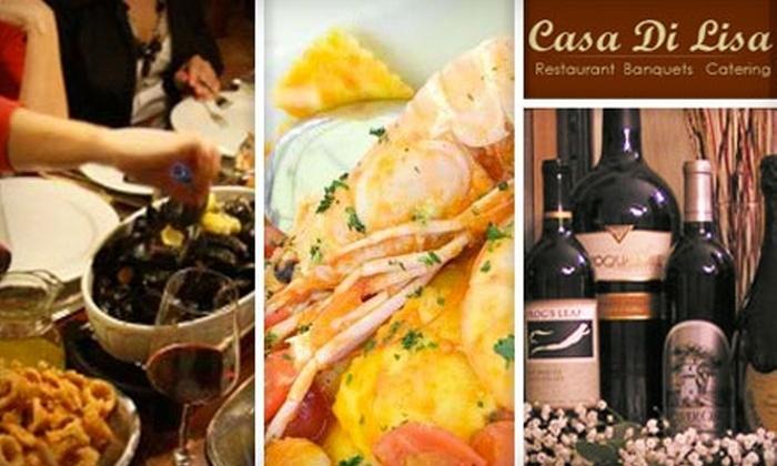 Casa Di Lisa - Agawam: $15 for $30 Worth of Elegant Italian Cuisine at Casa Di Lisa