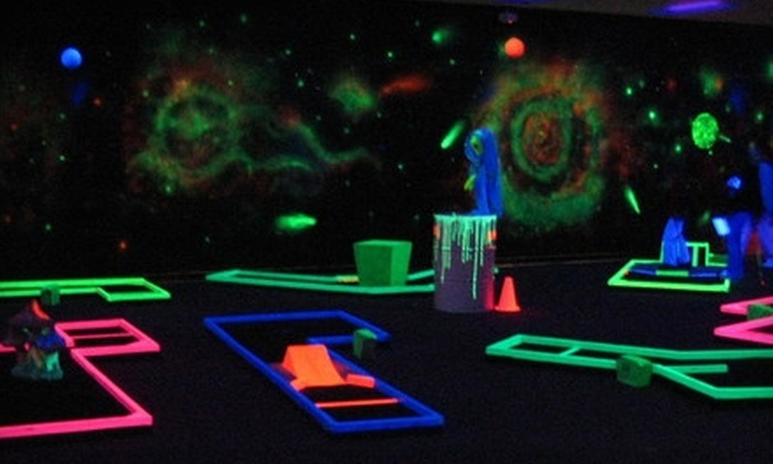 Galaxy Golf and Games - Winder: $6 for Unlimited Glow-in-the-Dark Mini Golf for Two at Galaxy Golf and Games in Winder ($12 Value)