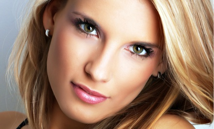 Brazilian Blowout or Haircut with Partial Highlights or Lowlights at Glamazon Salon (Up to 52% Off)