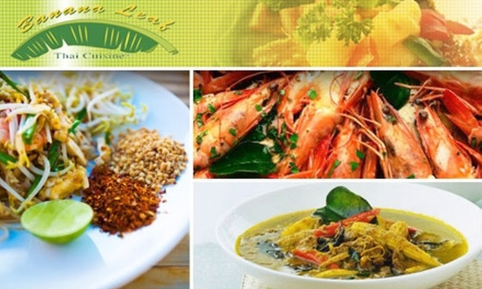 The Banana Leaf Thai Cuisine - Multiple Locations: $15 for $35 Worth of Thai Cuisine at Banana Leaf