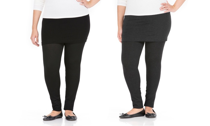 Sociology Women's Plus Size Skirted Leggings | Groupon Exclusive ...