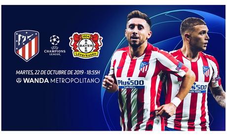 Consigue un 30% de descuento en entradas para el Atlético de Madrid - Bayer Leverkusen de Champions League