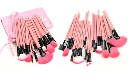 Pink 24pc Premium Brush Set