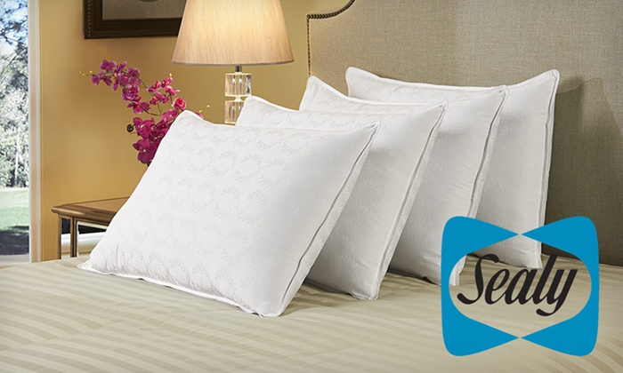 Four Sealy Damask Pillows: $35 for Four 300-Thread-Count Sealy Damask Pillows ($99.99 List Price). Free Shipping and Free Returns.