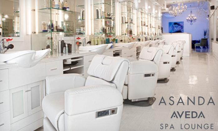 Asanda Aveda Spa Lounge - Asanda Spa Lounge: Mani-Pedi with Options of Facial, Aromatherapy Massage, and Hair Treatment at Asanda Aveda Spa Lounge (Up to 63% Off)