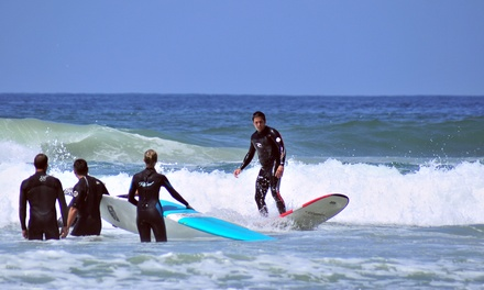 Surfing or Standup-Paddleboarding Lesson at Clint Carroll Surf School (Up to 72% Off). Five Options Available.