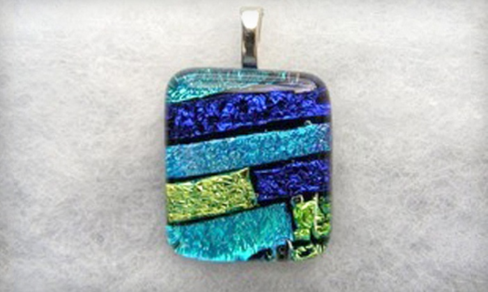 Practically Pikasso - Crescent Lake: $20 for a Dichroic Glass Earrings and Pendant Making Session at Practically Pikasso in St. Petersburg (Up to $46 Value)
