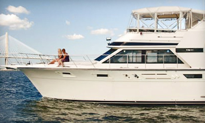Charleston Coastal Excursions - Patriots Point: $185 for a Three-Hour Docked Yacht Party with Sushi for Up to Six from Charleston Coastal Excursions ($550 Value)