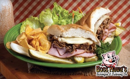 $20 Groupon to Boss Hawg's Barbeque - Boss Hawg's Barbeque in Topeka
