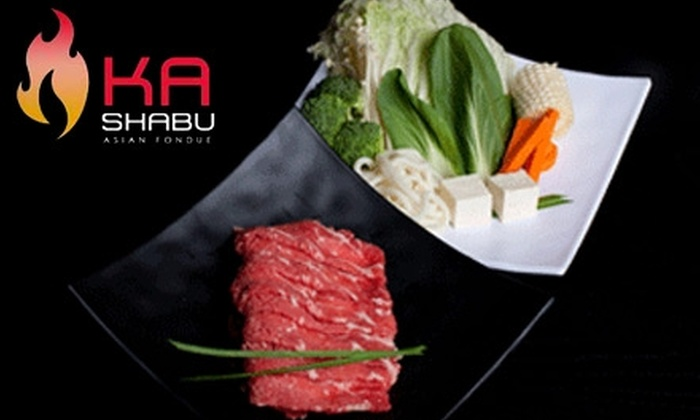 Ka Shabu - Downtown Huntington Beach: $12 for $25 Worth of Shabu-Shabu Cuisine and Drinks ($30 if Used Sunday–Thursday) at Ka Shabu in Huntington Beach