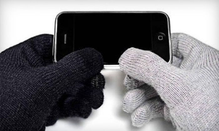 Touch It Gloves - Vancouver: $15 for a Pair of Touchscreen Gloves from Touch It Gloves ($35 Value)