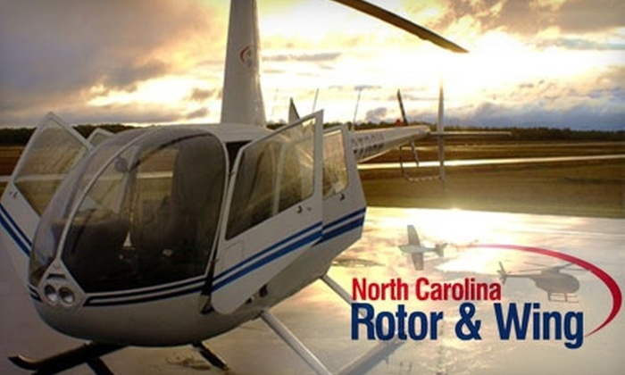 North Carolina Rotor & Wing - Harris: $95 for a One-Hour Intro Helicopter Flight Lesson and T-Shirt at North Carolina Rotor & Wing in Louisburg ($159.95 Value)