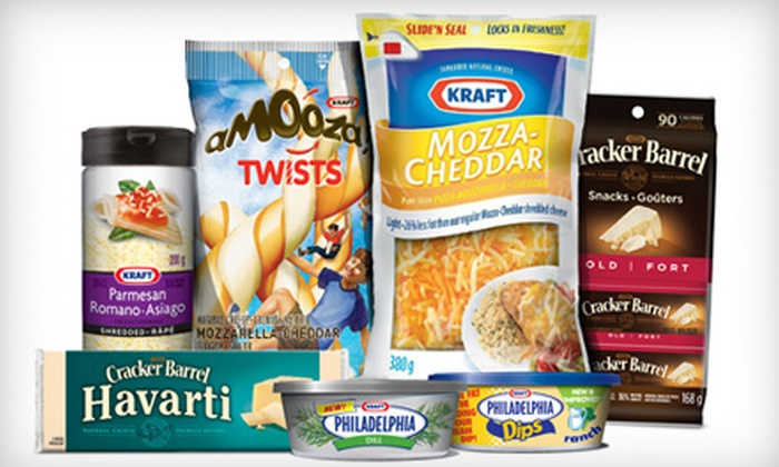 Kraft Canada Inc. - Hazeldean: $20 for Cheese, Snacks, and Dips from Kraft Canada Inc. (Up to $49.83 Value)