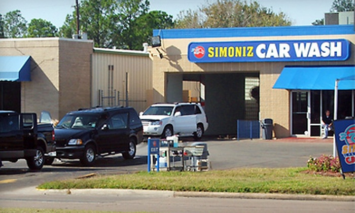 "Simoniz Car Wash - Multiple Locations: Three-Pack of ""The Best"" Exterior Car Washes at Simoniz Car Wash. Four Locations Available."