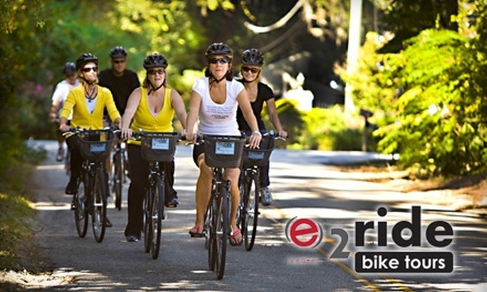 E2ride Bike Tours - Multiple Locations: $29 for a Historic Bike Tour from e2ride Bike Tours (Up to $65 Value)