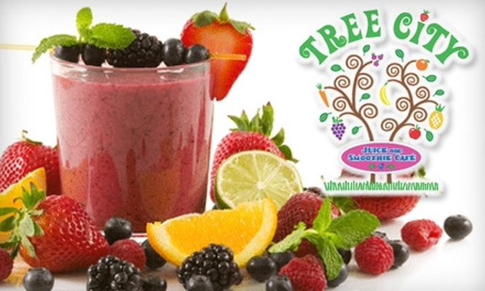 Tree City Juice and Smoothie Cafe - Multiple Locations: $4 for $8 Worth of Fresh Juice, Smoothies, and Sandwiches at Tree City Juice and Smoothie Cafe