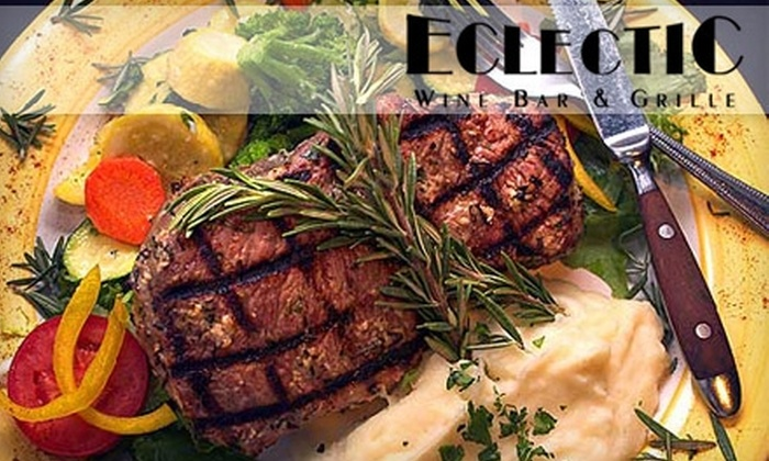 Eclectic Wine Bar & Grille - Valley Village: $20 for $40 Worth of Seafood, Pasta, Sandwiches, and Drinks at Eclectic Wine Bar & Grille
