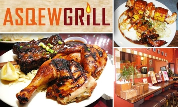 Asqew Grill - Southeast Marin: $10 for $22 Worth of Fresh Skewers and More at Asqew Grill