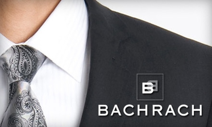 Bachrach - Multiple Locations: $25 for $50 Worth of Timeless Menswear at Bachrach