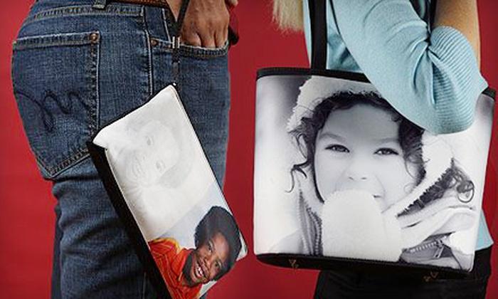 SnapTotes.com: Custom Photo Clutch or a Custom Photo Bucket Bag from SnapTotes.com