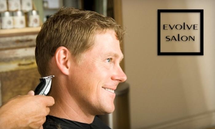 Evolve Salon - Cottage Home: $30 for Men's Cut and 15-Minute Scalp Massage at Evolve Salon ($70 Value)