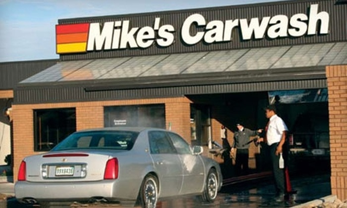 """Mike's Express Car Wash Ft. Wayne - Multiple Locations: $20 for Three """"The Works"""" Car Washes at Mike's Express Car Wash ($45 Value)"""
