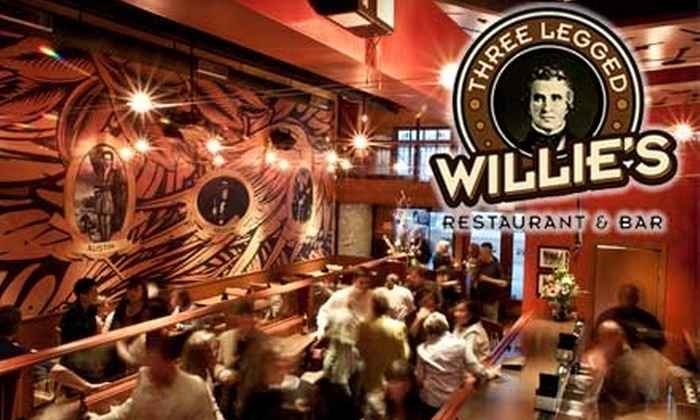 Three Legged Willie's - Downtown: $10 for $20 Worth of Comfort Fare at Three Legged Willie's in Georgetown