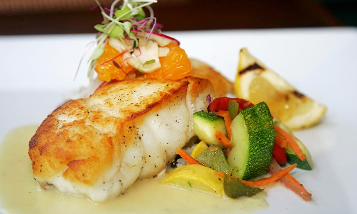 Ocean 60 - Atlantic Beach: Seafood, Steak, and Drinks for Two or More at Ocean 60 (Up to 40% Off). Two Options Available.