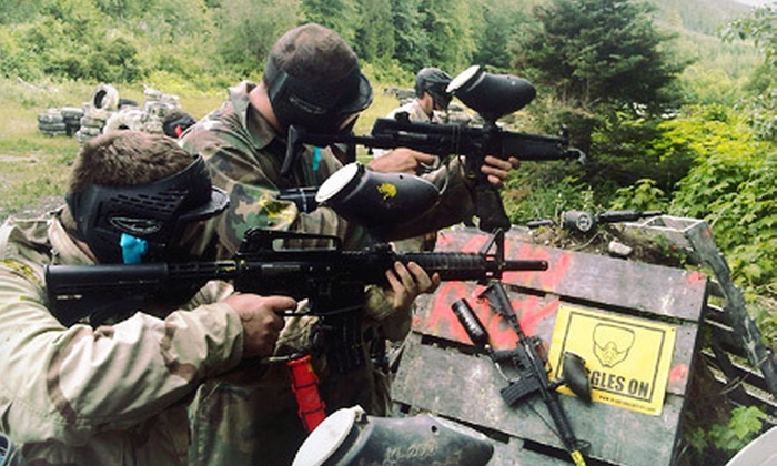Whistler Paintball - Whistler: Three-Hour Paintball Package with Marker, Gear, and 100 Paintballs for 2, 4, or 10 at Whistler Paintball (Up to 65% Off)