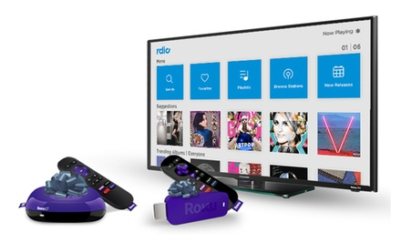 Roku LT HD Streaming Player or Roku Streaming Stick with 2 Months of Free Rdio
