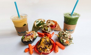 Refuge Cafe: Two or Four Healthy Meals, or a 30-Meal Package with Personal Training at Refuge Cafe (Up to 40% Off)