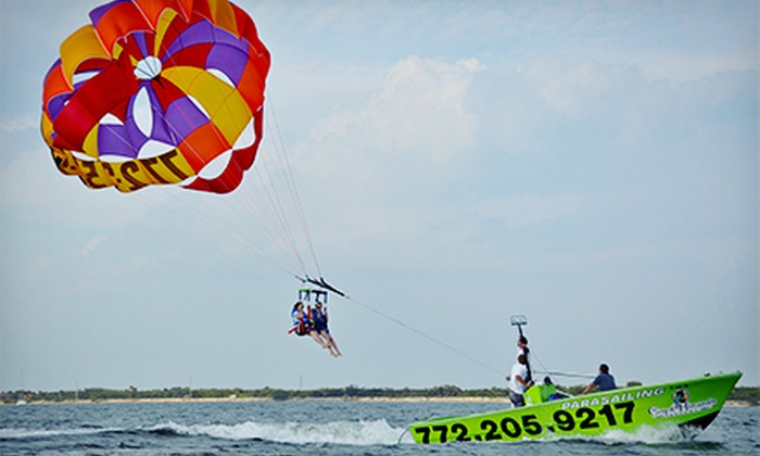Sebastian Inlet Parasailing - Sebastian: Parasailing for One or Two from Sebastian Inlet Parasailing (Up to 52% Off)