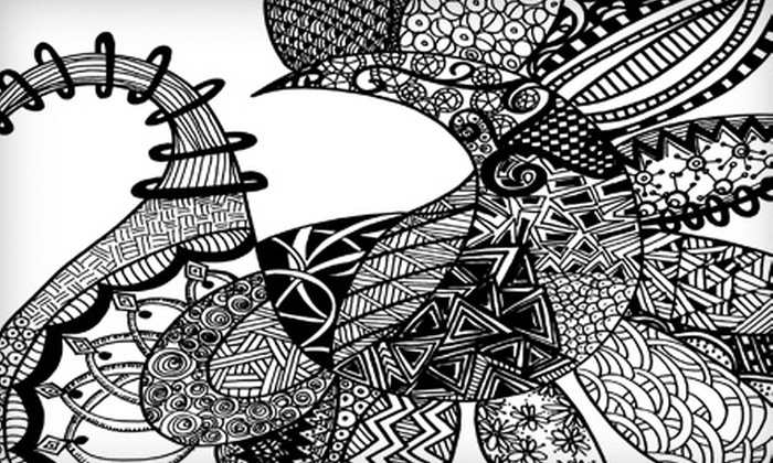 """Eclectic Goat - Northfield: $25 for Two """"Doodle Your Day Away"""" Art Classes at Eclectic Goat in Northfield"""