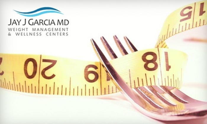 Jay J. Garcia MD Weight Loss and Wellness Center - Multiple Locations: $125 for a 30-Day Weight-Loss Program at Jay J. Garcia MD Weight Loss and Wellness Center ($535 Value). Choose from Five Locations.