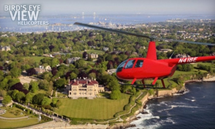 Bird's Eye View Helicopters‎ - Middletown: $99 for an Aerial Mansion Tour for Three People from Bird's Eye View Helicopters in Middletown