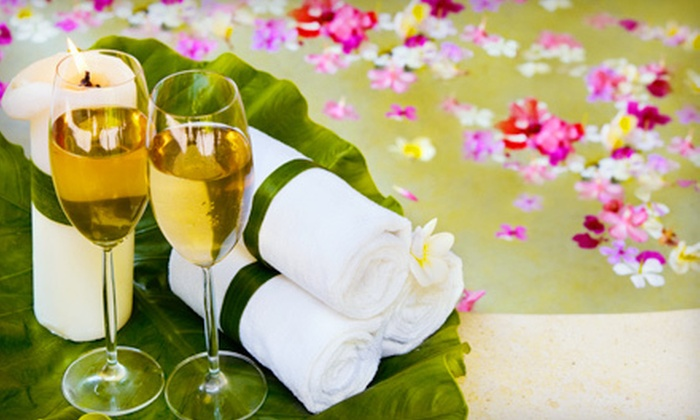 Caribbean Day Spa & Tanning - Las Vegas: Mani-Pedi, Spa Package for Her, or Couples Spa Package with Champagne at Caribbean Day Spa & Tanning (Up to 63% Off)