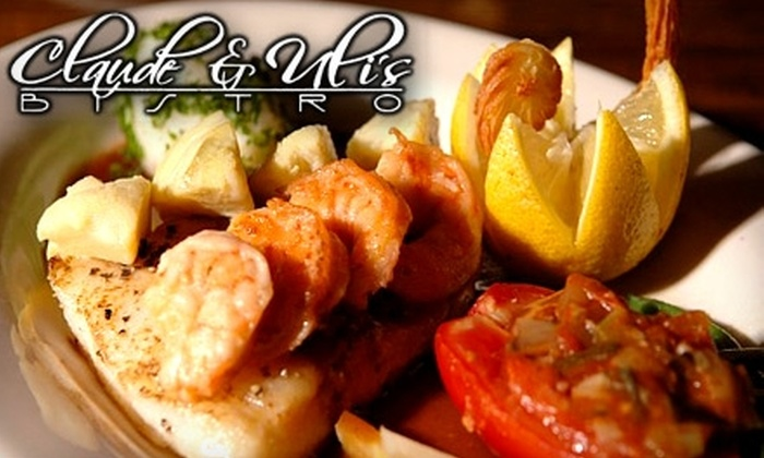 Claude & Ulis Bistro - Bluffton: $15 for $30 Worth of Lowcountry and French Dinner Cuisine at Claude & Uli's Bistro in Hilton Head Island