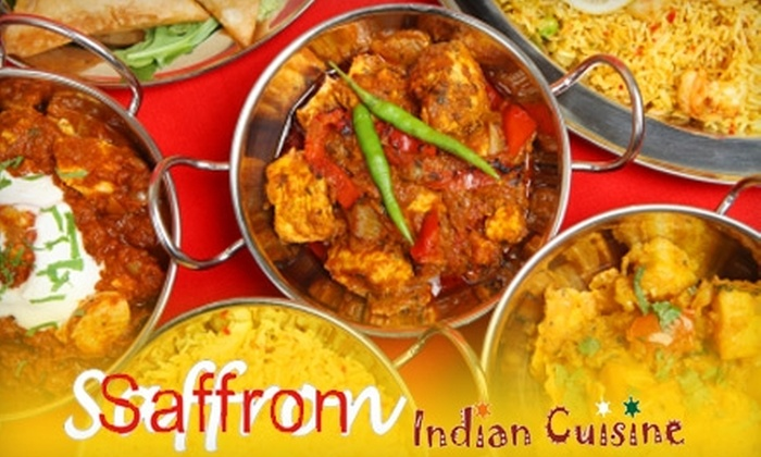 Saffron Indian Cusine - County Line Coalition: $10 for $20 Worth of Indian Fare at Saffron Indian Cuisine