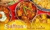 $10 for Indian Fare at Saffron Indian Cuisine