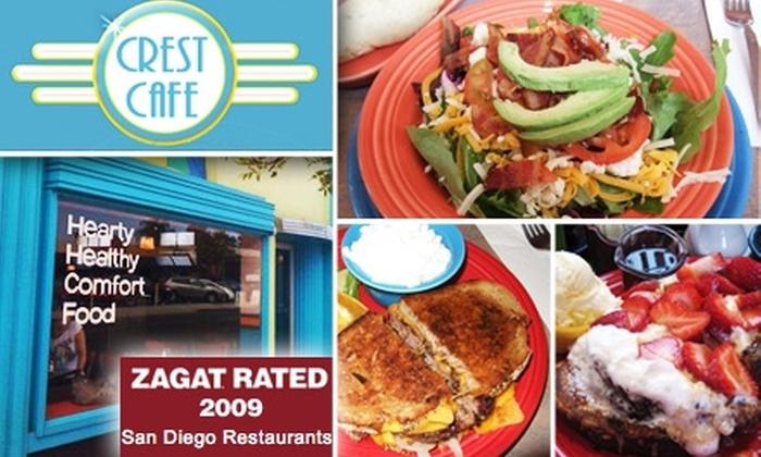 Crest Café - Hillcrest: $10 for $20 Worth of Food and Drink at Crest Café