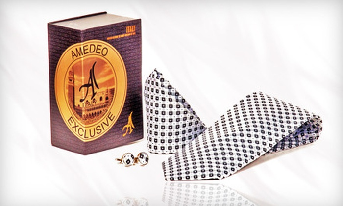Amedeo Exclusive - Downtown: Men's Apparel and Accessories at Amedeo Exclusive (Up to 72% Off). Three Options Available.