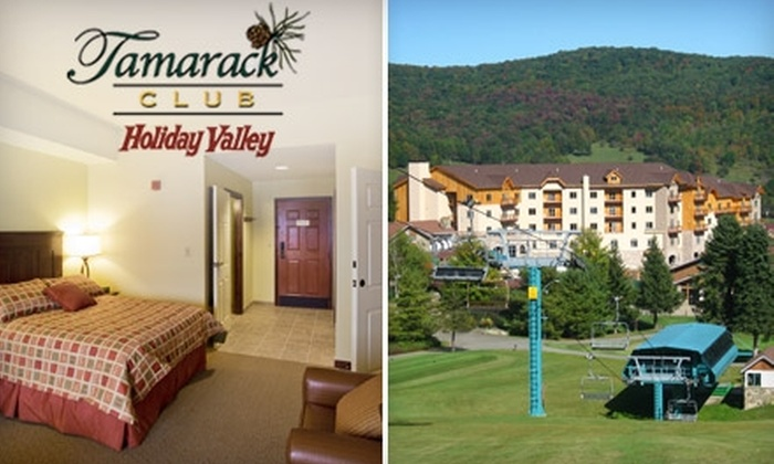The Tamarack Club - Ellicottville: $99 for a One-Night Stay in a Studio Room at The Tamarack Club in Ellicottville (Up to $195 Value)