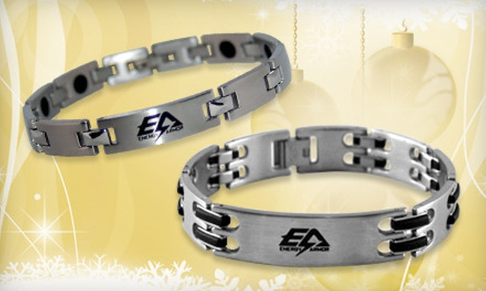 Energy Armor: Negative-Ion Pet Tag, Cell-Phone Case, Dog Tags, Cleat Covers, or Bracelet from Energy Armor (Up to 54% Off)