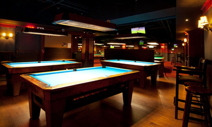 Society Billiards + Bar - Flatiron District: $26 for a Two-Hour Billiards Outing with Four Beers at Society Billiards + Bar (Up to $65 Value)