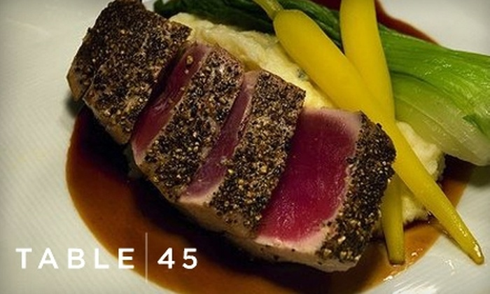 Table 45 - Fairfax: Half Off World Cuisine at Table 45. Choose from Two Options.