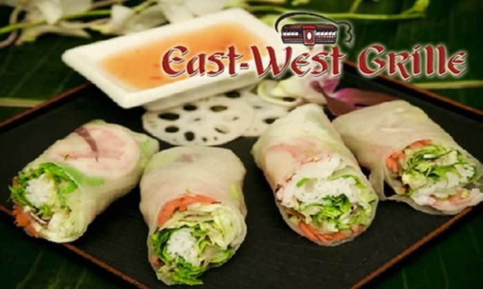 East-West Grille - West Hartford: $15 for $30 Worth of Asian Dinner at East-West Grille in West Hartford (or $10 for $20 Worth of Lunch)