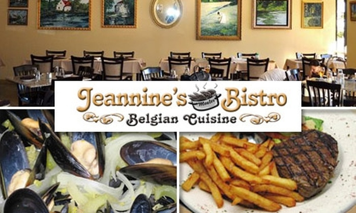 Jeannine's Bistro Belgian Cuisine - Neartown/ Montrose: $10 for $20 Worth of Authentic Belgian Eats at Jeannine's Bistro Belgian Cuisine