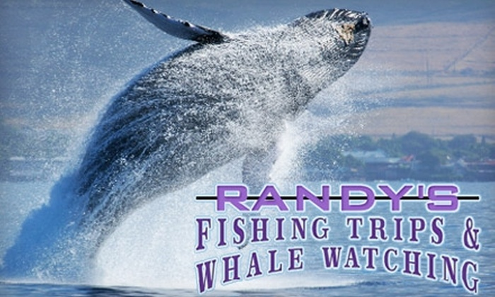 Randy's Fishing Trips and Whale Watching - Monterey: $15 for a Whale-Watching Tour at Randy's Fishing Trips and Whale Watching ($30 Value)