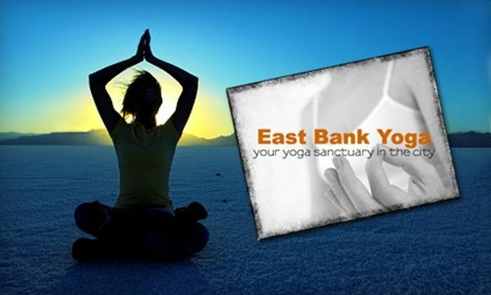 East Bank Yoga - Downtown: $17 for One Month of Unlimited Yoga Classes at East Bank Yoga (Up to $35 Value)